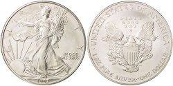 Us Coins - United States, Dollar, 1997, U.S. Mint, Philadelphia, MS(64), Silver, KM:273