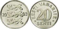 World Coins - Coin, Estonia, 20 Senti, 2003, no mint, , Nickel plated steel, KM:23a