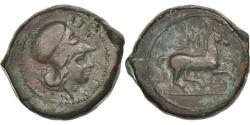 Ancient Coins - Sicily, Aitna, Tetras, Ae 26, , Bronze, SNG ANS:1301