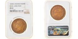 World Coins - Coin, Monaco, Honore V, Decime, 1838, Monaco, NGC, MS62, , Copper