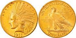 Us Coins - Coin, United States, Indian Head, $10, Eagle, 1911, U.S. Mint, Philadelphia