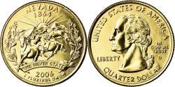 Us Coins - Coin, United States, Nevada, Quarter, 2006, U.S. Mint, Denver, golden