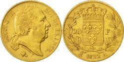 Ancient Coins - Coin, France, Louis XVIII, 20 Francs, 1822, Paris, EF(40-45), Gold, KM 712.1