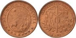 World Coins - BOLIVIA, 50 Centavos, 1/2 Boliviano, 1942, KM #182a.1, , Bronze, 24.6,.