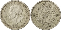 World Coins - SWEDEN, Krona, 1947, KM #814, , Silver, 25, 6.91