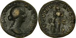 Ancient Coins - Coin, Faustina II, Sestertius, Roma, EF(40-45), Bronze, Cohen:93