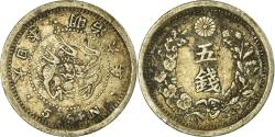 World Coins - Coin, Japan, Mutsuhito, 5 Sen, 1873, , Silver, KM:22