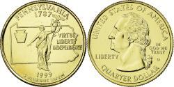 Us Coins - Coin, United States, Quarter, 1999, U.S. Mint, Denver, , Copper-Nickel