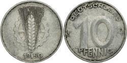 World Coins - Coin, GERMAN-DEMOCRATIC REPUBLIC, 10 Pfennig, 1950, Muldenhütten,