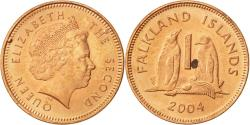 World Coins - Falkland Islands, Elizabeth II, Penny, 2004, , Copper Plated Steel