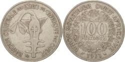 World Coins - West African States, 100 Francs, 1971, , Nickel, KM:4