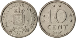 World Coins - Netherlands Antilles, Juliana, 10 Cents, 1971, , Nickel, KM:10