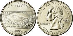 Us Coins - Coin, United States, West Virginia, Quarter, 2005, U.S. Mint, Denver,