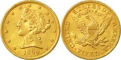 Us Coins - Coin, United States, Coronet Head, $5,1899, Philadelphia, , KM 101