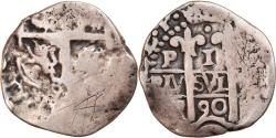 World Coins - Coin, Bolivia, Charles II, Real, 1690, Potosi, COB, , Silver, KM:23