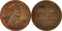 Us Coins - United States, Lincoln Cent, Cent, 1983, U.S. Mint, Denver, , Copper