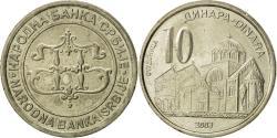 World Coins - Serbia, 10 Dinara, 2003, , Copper-Nickel-Zinc, KM:37