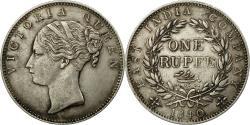 World Coins - Coin, INDIA-BRITISH, Victoria, Rupee, 1840, Calcutta, , Silver