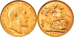 World Coins - Coin, Australia, Edward VII, Sovereign, 1908, Perth, , Gold, KM:15