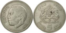 World Coins - Coin, Morocco, al-Hassan II, 5 Dirhams, 1980, Paris, , Copper-nickel