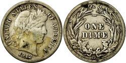 Us Coins - Coin, United States, Barber Dime, Dime, 1912, U.S. Mint, Denver,