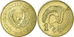 World Coins - Coin, Cyprus, Cent, 1985, , Nickel-brass, KM:53 2