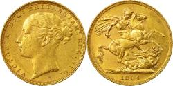 World Coins - Coin, Australia, Victoria, Sovereign, 1884, Melbourne, , Gold, KM:7