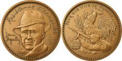 World Coins - France, Medal, Résistance française, Jean Moulin, 1986, Mauviel,