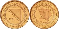 World Coins - BOSNIA-HERZEGOVINA, 20 Feninga, 1998, British Royal Mint, , Copper