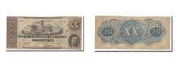 Us Coins - Confederate States of America, 20 Dollars, 1862, KM #53c, 1862-12-02,...