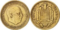 World Coins - Spain, Francisco Franco, caudillo, Peseta, 1963, , KM:775