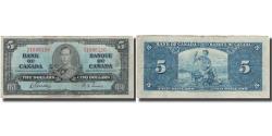 World Coins - Banknote, Canada, 5 Dollars, 1937-01-02, KM:60b, VF(20-25)