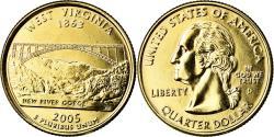 Us Coins - Coin, United States, West Virginia, Quarter, 2005, U.S. Mint, Denver, golden