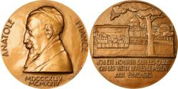 World Coins - France, Medal, Anatole France, Arts & Culture, 1989, M. Delannoy, , Bronze