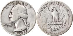 Us Coins - Coin, United States, Washington Quarter, Quarter, 1952, U.S. Mint, San