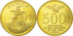 Us Coins - United States of America, Medal, 500ème Anniversaire de la Découverte de