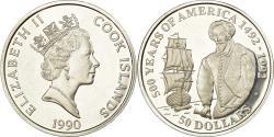 World Coins - Coin, Cook Islands, Elizabeth II, 50 Dollars, 1990, Pobjoy Mint, Proof,