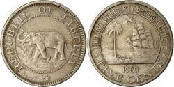 World Coins - Coin, Liberia, 5 Cents, 1960, Heaton, , Copper-nickel, KM:14
