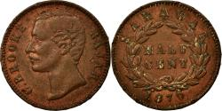 World Coins - Coin, Sarawak, Charles J. Brooke, 1/2 Cent, 1870, Smith & Wright, Birmingham