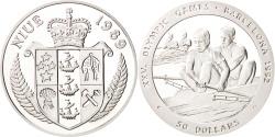 World Coins - NIUE, 50 Dollars, 1989, KM #27, , Silver, 28.28