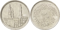 World Coins - EGYPT, 20 Piastres, 1992, KM #733, , Copper-Nickel, 25, 4.51