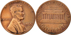 Us Coins - United States, Lincoln Cent, 1965, Philadelphia, , KM:201
