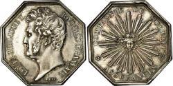 World Coins - France, Token, Louis-Philippe Ier, Compagnie du Soleil, Assurances, Barre