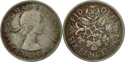 World Coins - Coin, Great Britain, Elizabeth II, 6 Pence, 1964, , Copper-nickel