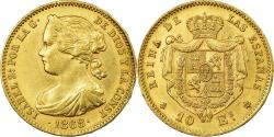 World Coins - Coin, Spain, Isabel II, 10 Escudos, 1873, Madrid, , Gold, KM:636.3