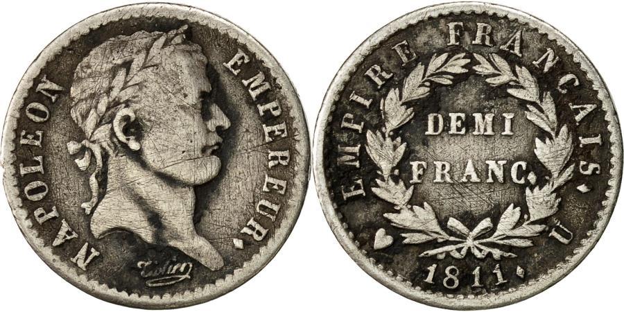 France napol on i 1 2 franc 1811 torino vf 30 35 for Coin torino