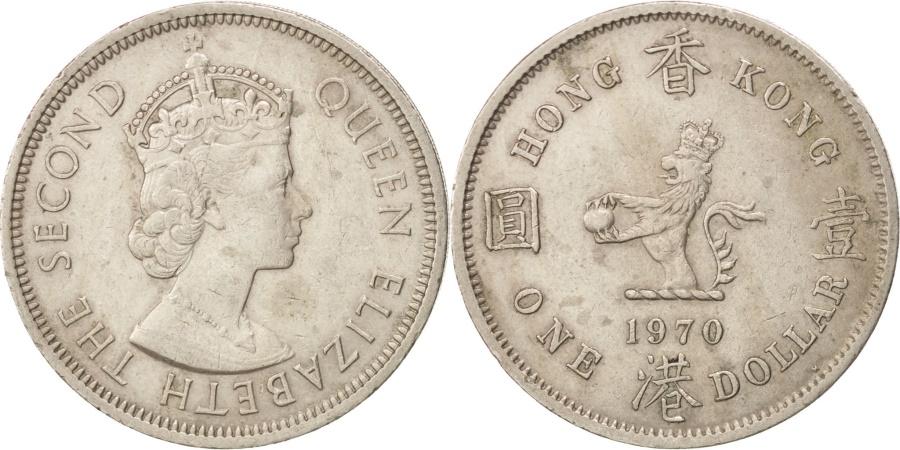 World Coins - HONG KONG, Dollar, 1970, KM #31.1, , Copper-Nickel, 29.8, 11.73