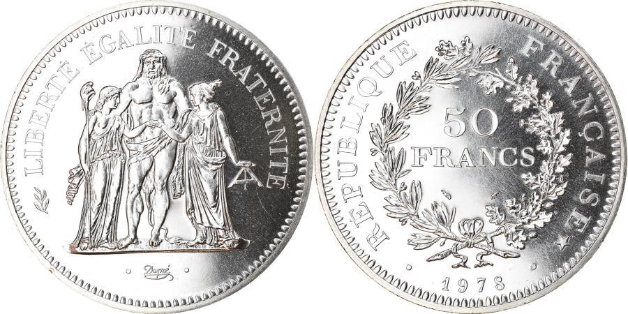 World Coins - Coin, France, Hercule, 50 Francs, 1978, Paris, , Silver, KM:941.1