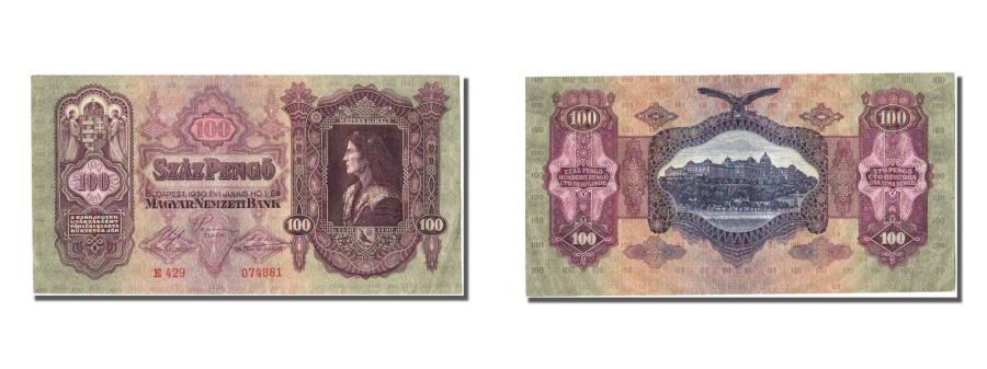 World Coins - Hungary, 100 Pengö, 1930, KM #98, 1930-07-01, AU(55-58), E