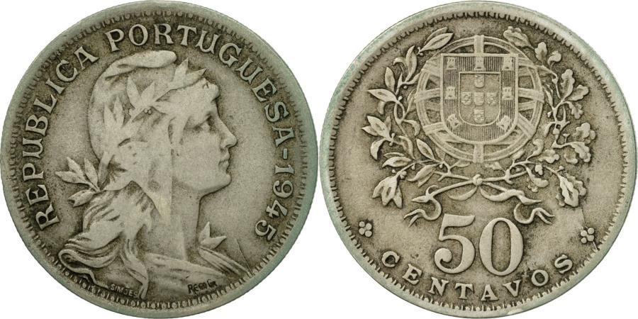World Coins - Coin, Portugal, 50 Centavos, 1945, , Copper-nickel, KM:577